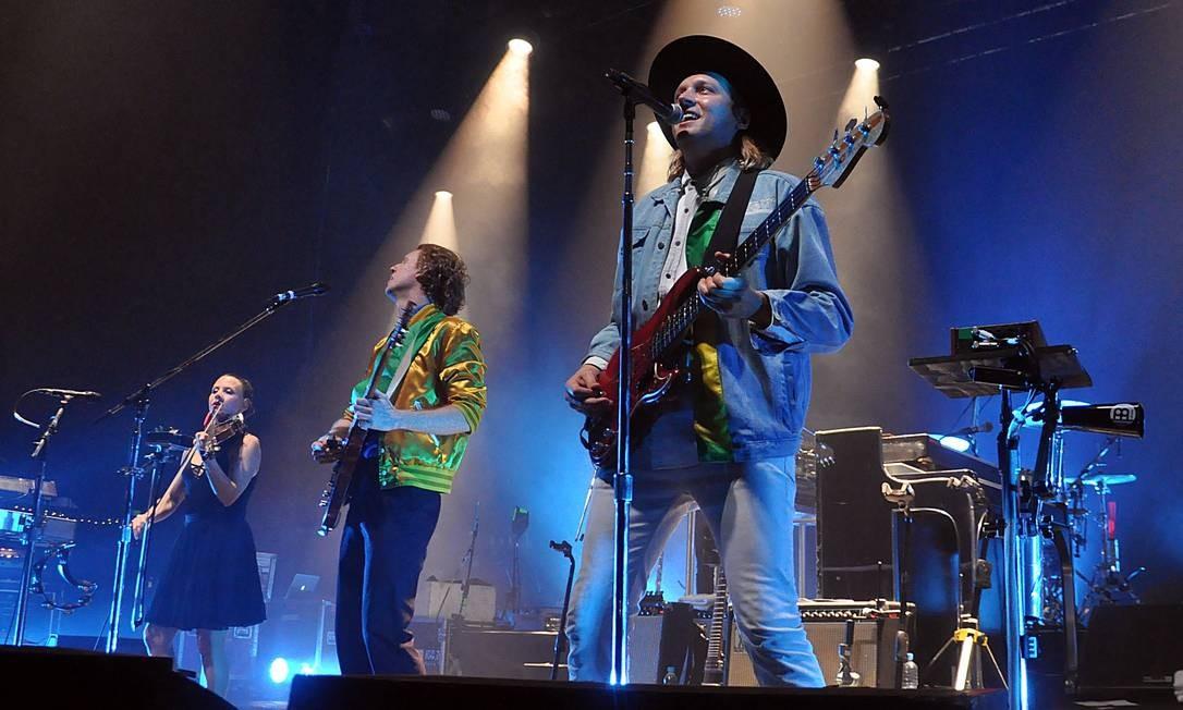 A banda canadense Arcade Fire, no Rio; show em 2010 no Lollapalooza dos EUA será exibido no YouTube Foto: Lucas Tavares / Lucas Tavares / Agência O Globo