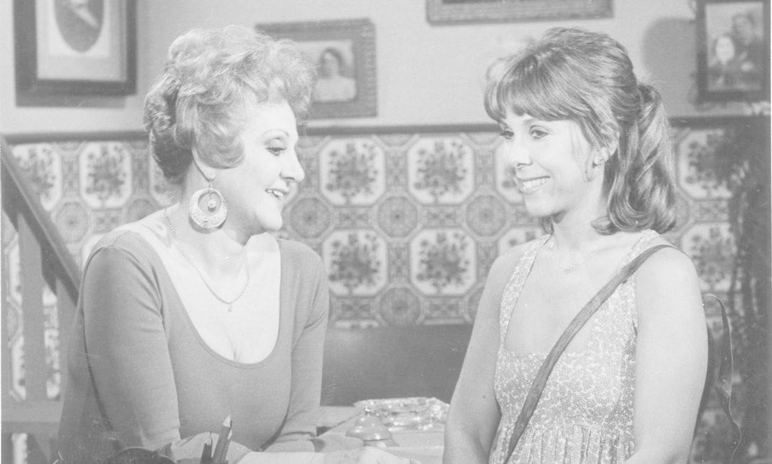 """Eva Todor (à esquerda) e Teresa Sodré na novela """"Te contei"""" Foto: Arquivo O Globo"""