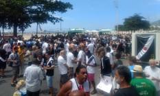 Apoiadores de Julio Brant em Copacabana Foto: Bruno Marinho