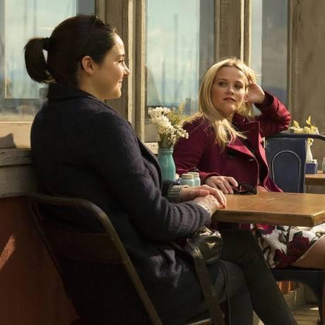 Shailene Woodley, Reese Witherspoon e Nicole Kidman em cena de 'Big little lies' Foto: Divulgação