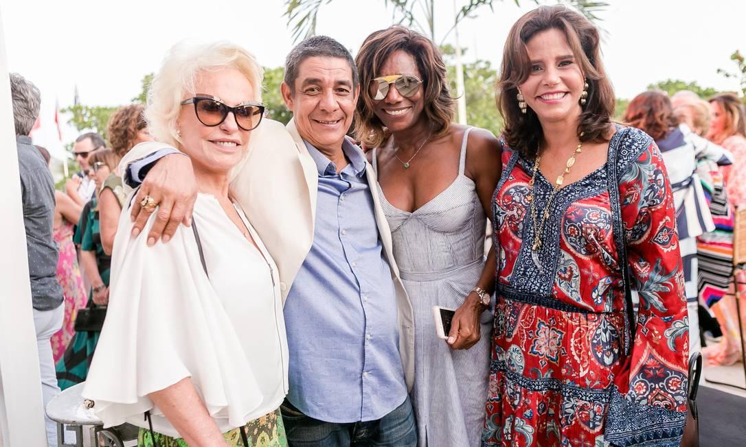 Ana Maria Braga, Zeca Pagodinho, Glória Maria e Narcisa Tamborindeguy Foto: Bruno Ryfer / www.brunoryfer.com
