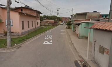 A rua onde aconteceu o crime Foto: Google Street View / Reprodução