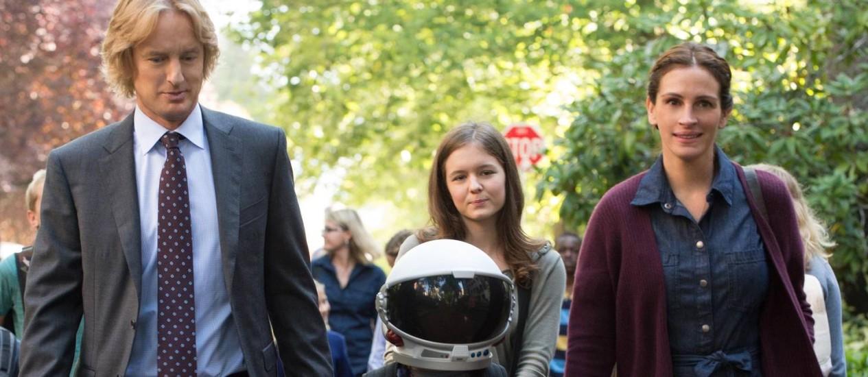 'Extraordinário': com Julia Roberts, Owen Wilson e Jacob Tremblay Foto: Divulgação