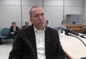 Apontado como operador do ex-governador Sérgio Cabral, Carlos Miranda presta depoimento Foto: Reprodução