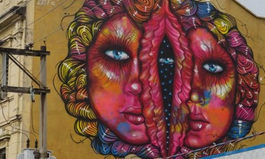 """Obra """"Femme maison"""", de Panmela Castro, em Sorocaba, que foi pintada de cinza Foto: Divulgação / Divulgação"""