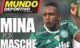 Mina por Mascherano é a manchete do Mundo Deportivo Foto: Reprodução