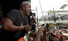 Em caravana pelo estado do Rio, Lula discursa em duque de Caxias Foto: Gabriel de Paiva / Agência O Globo 07/12/2017