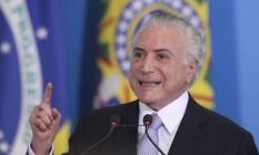 O presidente Michel Temer se reúne com empresários no Palácio do Planalto Foto: Ailton Freitas/Agência O Globo