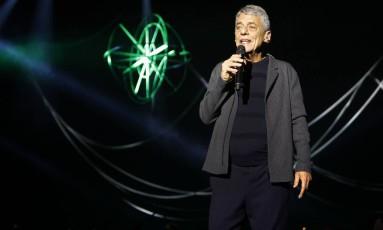 Chico Buarque em ensaio aberto do show 'Caravanas' Foto: Divulgação/Leo Aversa