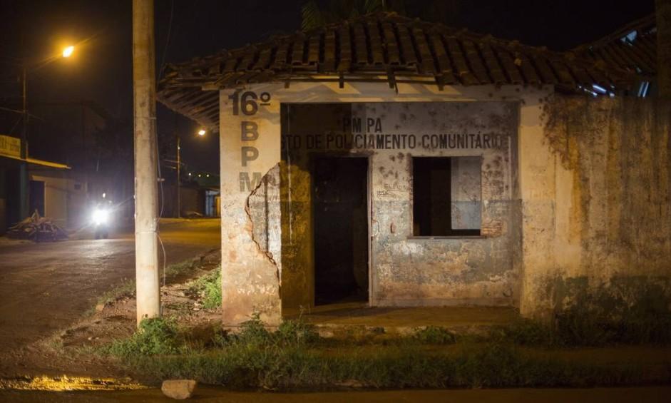 Posto de Polícia Comunitária no Jardim Primavera, próximo ao bairro da Brasilia, em Altamira Foto: Daniel Marenco / Agência O Globo