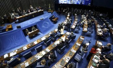 Sessão extraordinária do Senado Foto: Marcelo Camargo / Agência Brasil