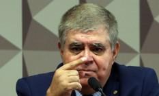 Deputado Carlos Marun (PMDB-MS) apresenta do relatório final na CPI da JBS Foto: Givaldo Barbosa / Agência O Globo