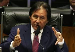 O presidente do Senado, Eunício Oliveira, preside sessão do Congresso Nacional Foto: Givaldo Barbosa / Givaldo Barbosa/Agência O Globo