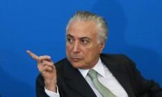 O presidente Michel Temer Foto: Givaldo Barbosa / Agência O Globo 13/12/2017