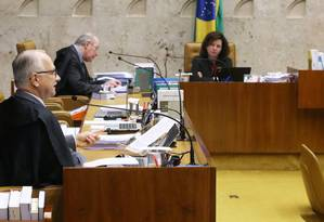 Sessão do Supremo Tribunal Federal analisa possibilidade da Polícia Federal firmar acordos de delação premiada Foto: Ailton de Freitas / Ailton de Freitas/Agência O Globo