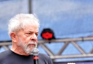O ex-presidente Luiz Inácio Lula da Silva, em ato no ABC Paulista Foto: Código 19 / Agência O Globo