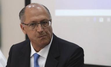 O governador de São Paulo e pré-candidato a presidente, Geraldo Alckmin Foto: Ailton Freitas / Agência O Globo 13/12/2017