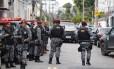 A Força Nacional de Segurança nas ruas doRio,em julho de 2017