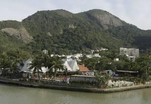Rio Beach Club , na Ilha da Coroa, faz festas que incomodam a vizinhança Foto: Gabriel de Paiva / Agência O Globo