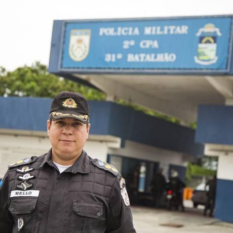 Wagner Mello assumiu o batalhão há um mês Foto: BARBARA LOPES / Agência O Globo
