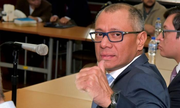 Vice do Equador condenado a seis anos de prisão no caso Odebrecht