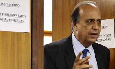 O governador do Rio, Luiz Fernando Pezão, na Câmara dos Deputados Foto: Jorge William/Agência O Globo/07-11-2017