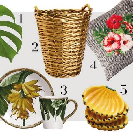 Décor tropical Foto: Fotos de divulgação