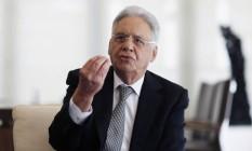 Ex-presidente Fernando Henrique Cardoso em entrevista para O GLOBO Foto: Agência O Globo
