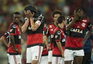 Flamengo perdeu a Copa Sul-Americana para o Independiente Foto: Guito Moreto / Agência O Globo