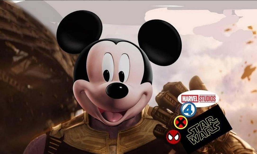 Anúncio de compra da Fox pela Disney rendeu piadas na web Foto: Twitter/Reprodução