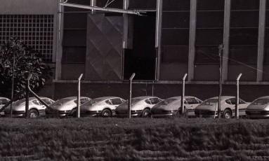 Pátio da fábrica da Volkswagen em São Bernardo do Campo (SP) nos anos 70, período da ditadura militar brasileira Foto: Arquivo / Agência O Globo (21/06/1972 )