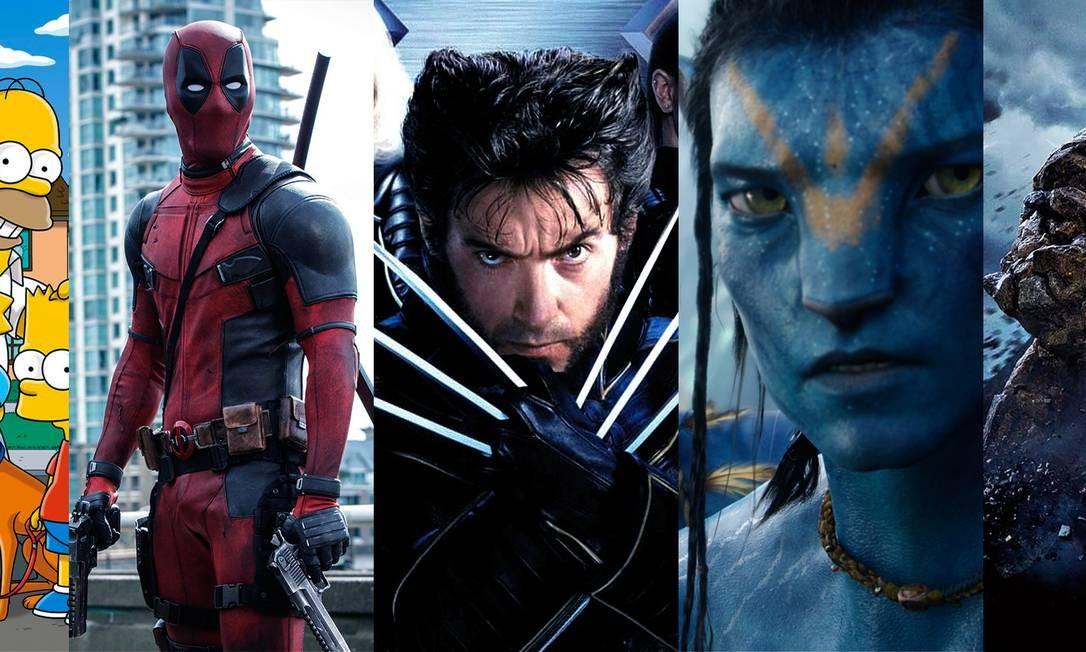 Personagens de sucesso da Fox que agora serão da Disney Foto: Editoria de Arte / Agência O Globo