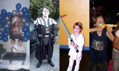 Amor por 'Star Wars' passa de mãe para filhos. Foto: Arquivo pessoal