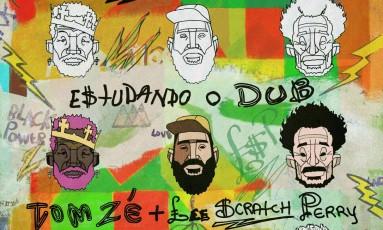 Detalhe da capa do single 'Estudando o dub', de Lee Perry, Tom Zé e Digitaldubs Foto: Reprodução
