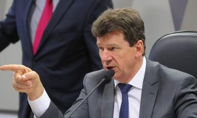 O senador Ivo Cassol (PP-RO) preside sessão da Comissão de Agricultura e Reforma Agrária do Senado Foto: Pedro França/Agência Senado/05-12-201
