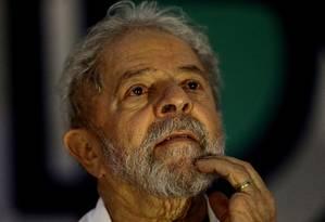 O ex-presidente Luiz Inácio Lula da Silva, durante de encontro de catadores em Brasília Foto: Jorge William / Agência O Globo (13-12-2017)