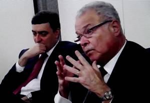 Reprodução do vídeo de delação de Emílio Odebrecht Foto: reprodução / Agência O Globo