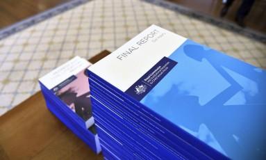 Comissão criada há cinco anos para investigar casos de abusos sexuais em instituições religiosas na Austrália entregou o relatório final nesta sexta-feira Foto: Jeremy Piper / AP
