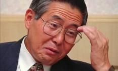 Alberto Fujimori durante entrevista em setembro de 1995 Foto: Greg Baker / AP