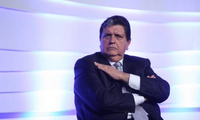 Ex-presidente do Peru, Alan García, durante evento no Brasil em 2012 Foto: Marcos Alves / Agência O Globo