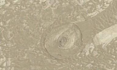 Imagem da cidade de Sar-O-Tar, construída nos primeiros séculos d.C. no deserto do Afeganistão Foto: Google Earth