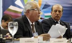 O presidente da Odebrecht, Emilio Odebrecht, durante palestra no Rio de Janeiro Foto: Laura Marques/Agência O Globo/14-05-2013
