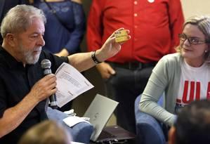 Presidente do PT, Gleisi Hoffman, diz que candidatura de Lula será registrada em qualquer circunstância Foto: Edilson Dantas / Agência O Globo 21/09/2017