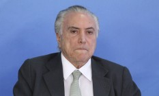 Michel Temer particpa da posse de Carlos Marun na Secretaria de Governo no Planalto. Foto: Ailton Freitas / Agência O Globo