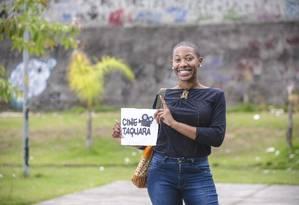 Tudo começou com poesia no BRT. Agora Gleyser leva filmes às ruas Foto: Fabio Cordeiro / Fabio Cordeiro