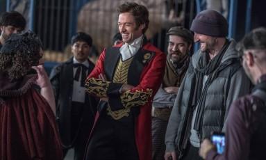 Hugh Jackman em cena de 'O rei do show', de Michael Gracey Foto: Michael Gracey / Divulgação
