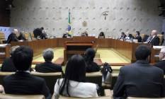 Sessão do STF Foto: Jorge William / Agência O Globo