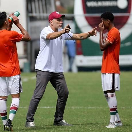 O técnico do sub-20 do Flu, Léo Percovich Foto: Fluminense