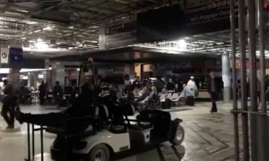 Aeroporto de Atlanta, o mais movimentado do mundo, fica no escuro após apagão Foto: SOCIAL MEDIA / REUTERS
