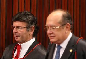 Plenário do Tribunal Superior Eleitoral (TSE) na eleição do ministro Luiz Fux como novo presidente da corte Foto: Ailton de Freitas / Agência O Globo